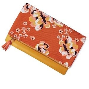 Rachel Pally Orange Floral Clutch